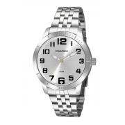 Relógio Mondaine Feixo Metal Prata Maculino Adulto Ref 99601