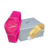 Relógio Speedo Esportivo Com Brinde Pulseira Silicone Feminino Adulto Ref 15027