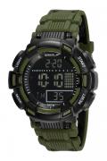 Relógio Speedo Sports Verde Militar Masculino Adulto Ref 81209