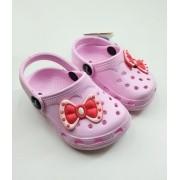 Sandália Babucha Croc Kemo Infantil Baby Menina Rosa 144B