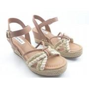 Sandália Bebecê Plataforma Confort Fashion Fem Ad 4831-247