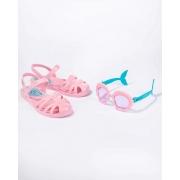 Sandália Infantil Disney Fun Glasse Menina Com Brinde 22486 23 ao 34 Ref 22486