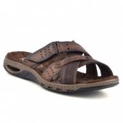 Sandália Pegada Slide Em Couro Masculino Adulto 13601-02