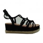 Sandália Plataforma Di Cristalli Delicada Nob 5331625