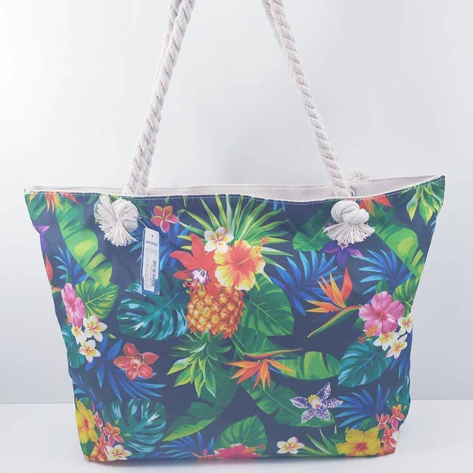 Bolsa De Praia Drax Alça Cordas Floral
