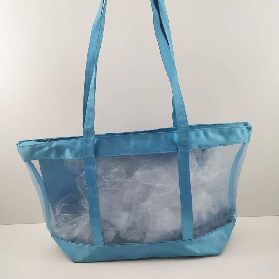 Bolsa Praia Drax Transparente Azul Feminino Adulto
