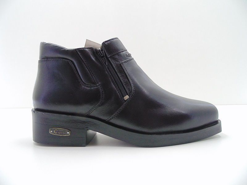 Bota Capelli Boots Em Couro Zíper Cano Médio 880