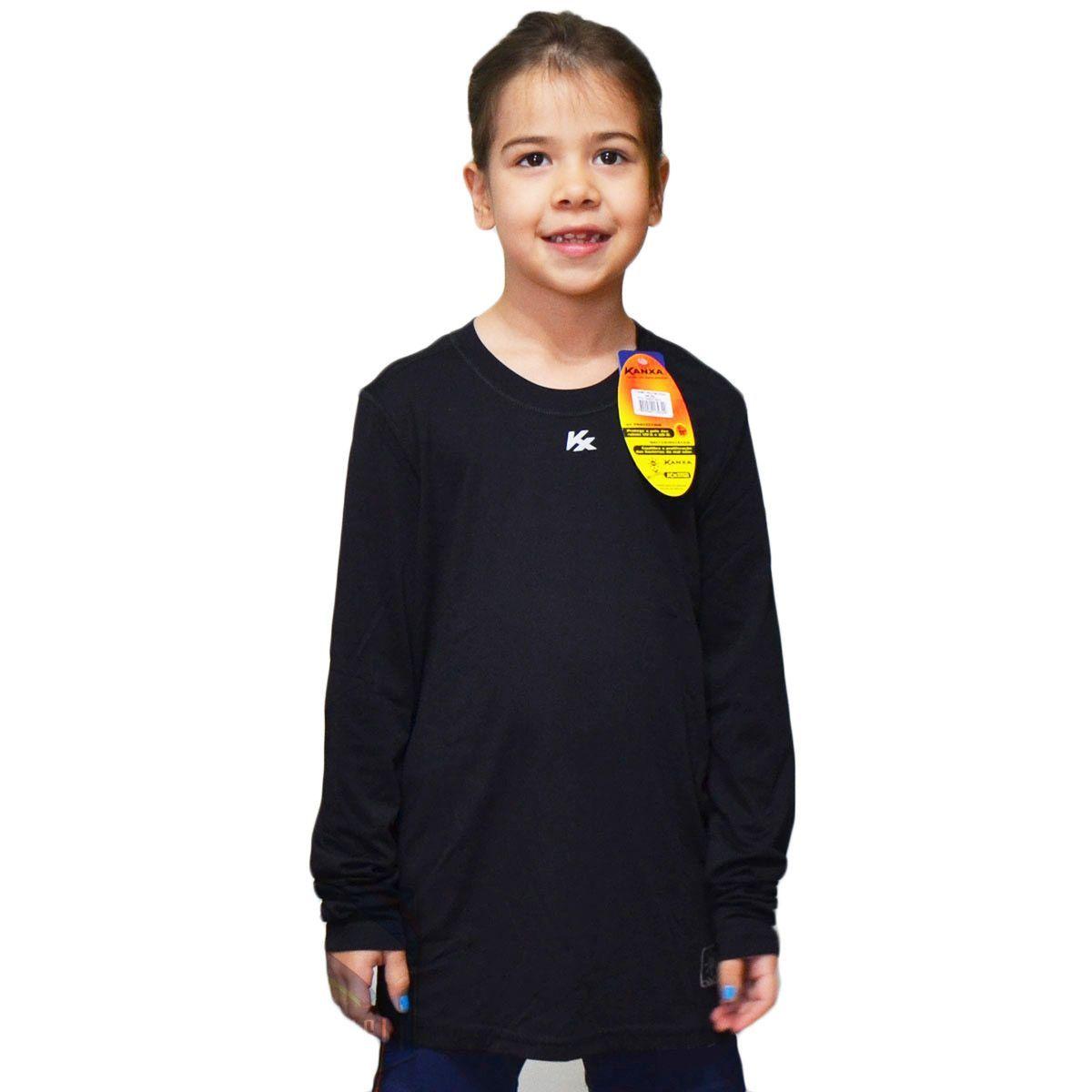 Camisa Térmica Kanxa Infantil Manga Longa Proteção UV