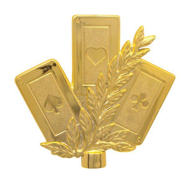 Estatueta Irmossi Baralho Dourada 1