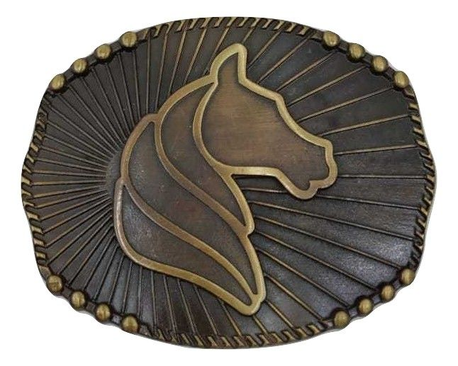 Fivela Country Cavalo Adulto Unissex