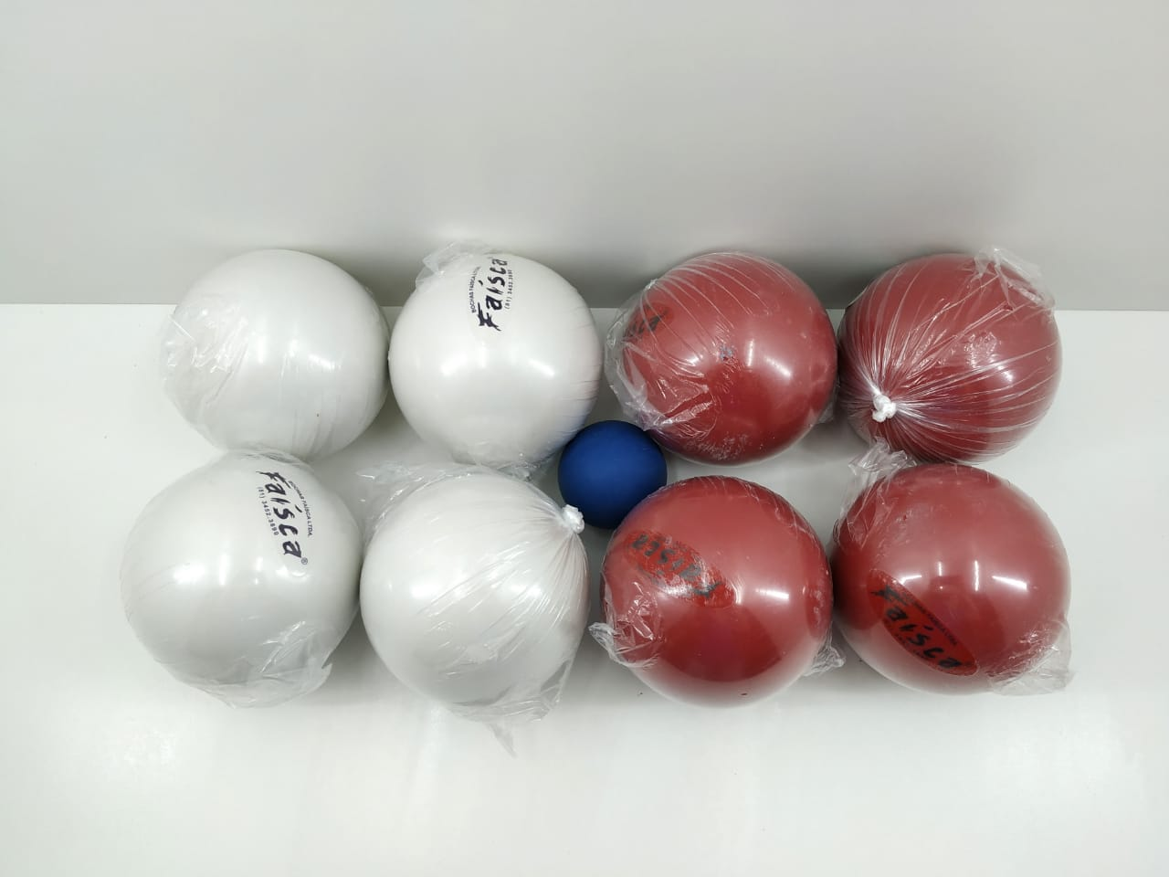 Jogo de Bocha Bola de Massa Faísca Tradicional C/8 Bolas + Balin 1,380Kg