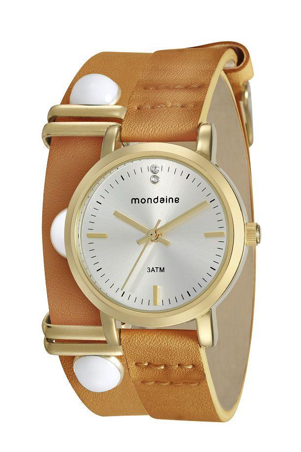 Relógio Mondaine Pulso Feminino Adulto + Pulseira De Brinde 76644LPMVDH1K2