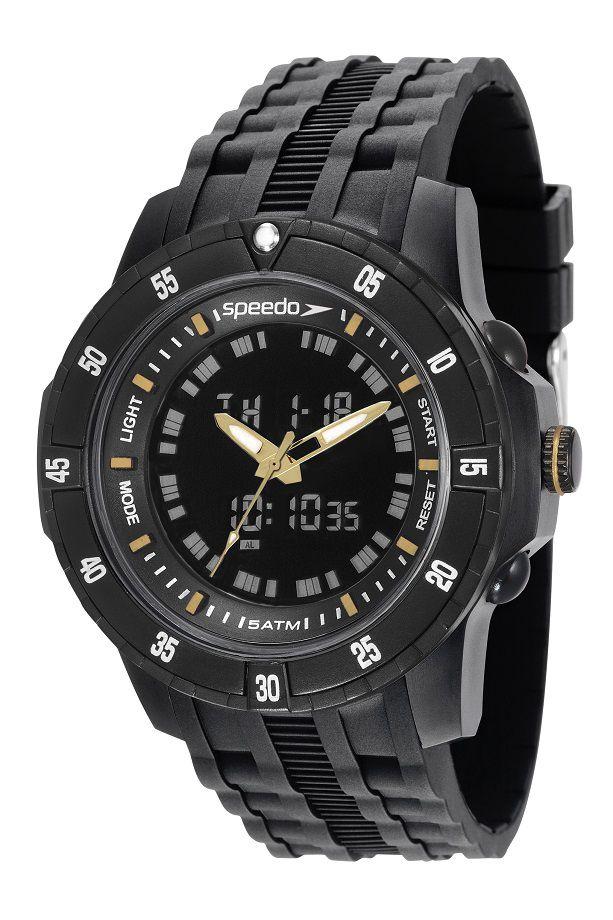 Relógio Speedo Masculino Adulto Feixo Plástico + Carregador de Brinde  81127G0EVNP6K1