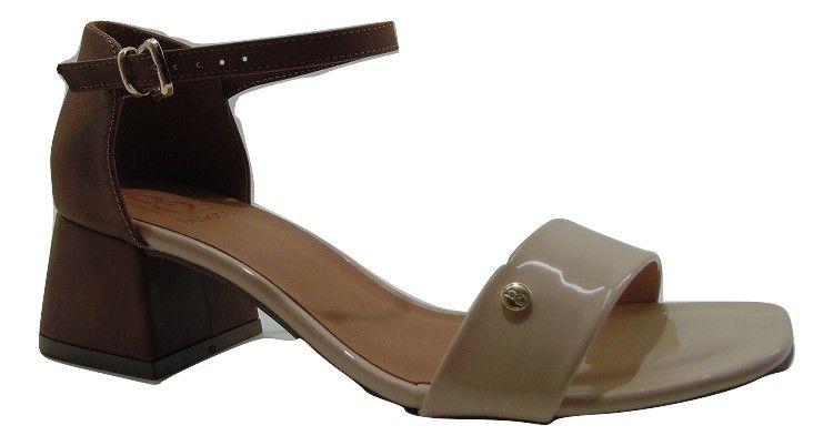 Sandália Bebecê Saltinho 4cm Nude Delicada 5219-304