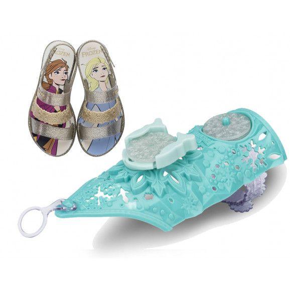 Sandália Disney Frosen Snow Power Infantil Menina + Brinde 22026