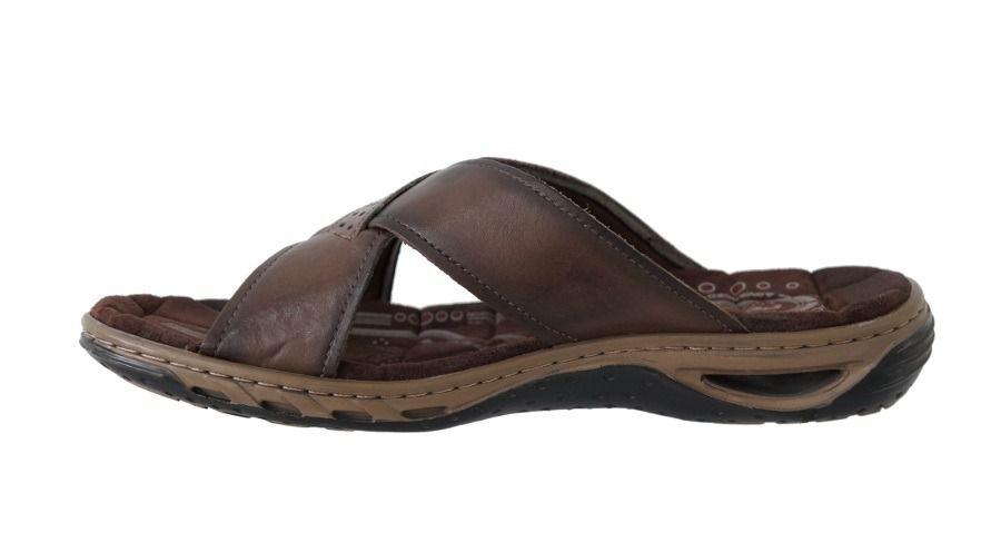 Sandália Pegada Slide em Couro Masculino Adulto 131661