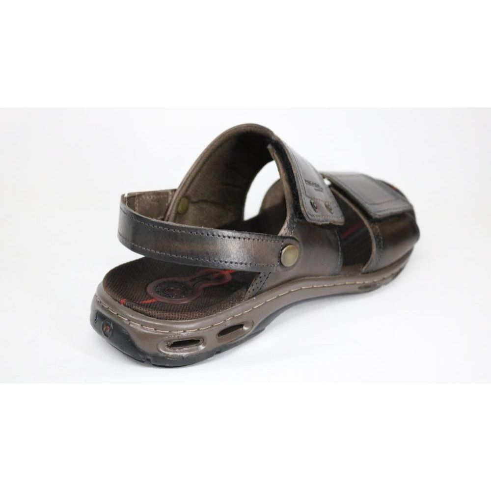 Sandália Pegada Fechada Em Couro Masculino Adulto 130645-02