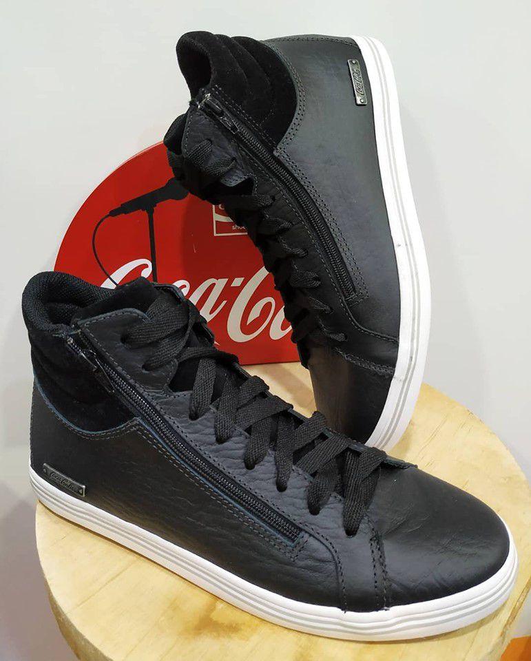 Sapatenis Cano Alto Coca Cola Shoes Munique Masculino Adulto CC1561