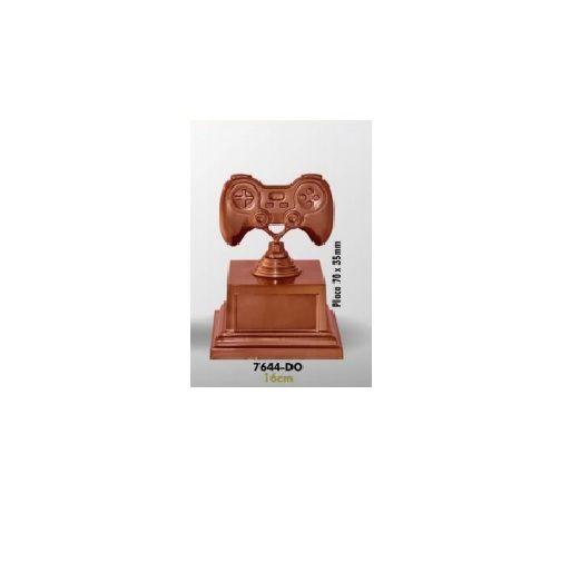 Troféu Irmossi Premiação Vídeo Game Prata Bronze 7643 16Cm