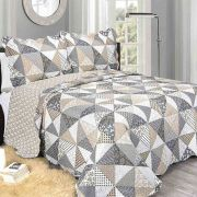 Colcha Evolution Patchwork Casal  - Cavo