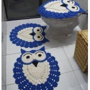 Jogo Banheiro Coruja Crochê