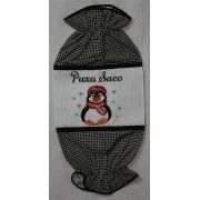 Puxa Saco Bordado Pinguim