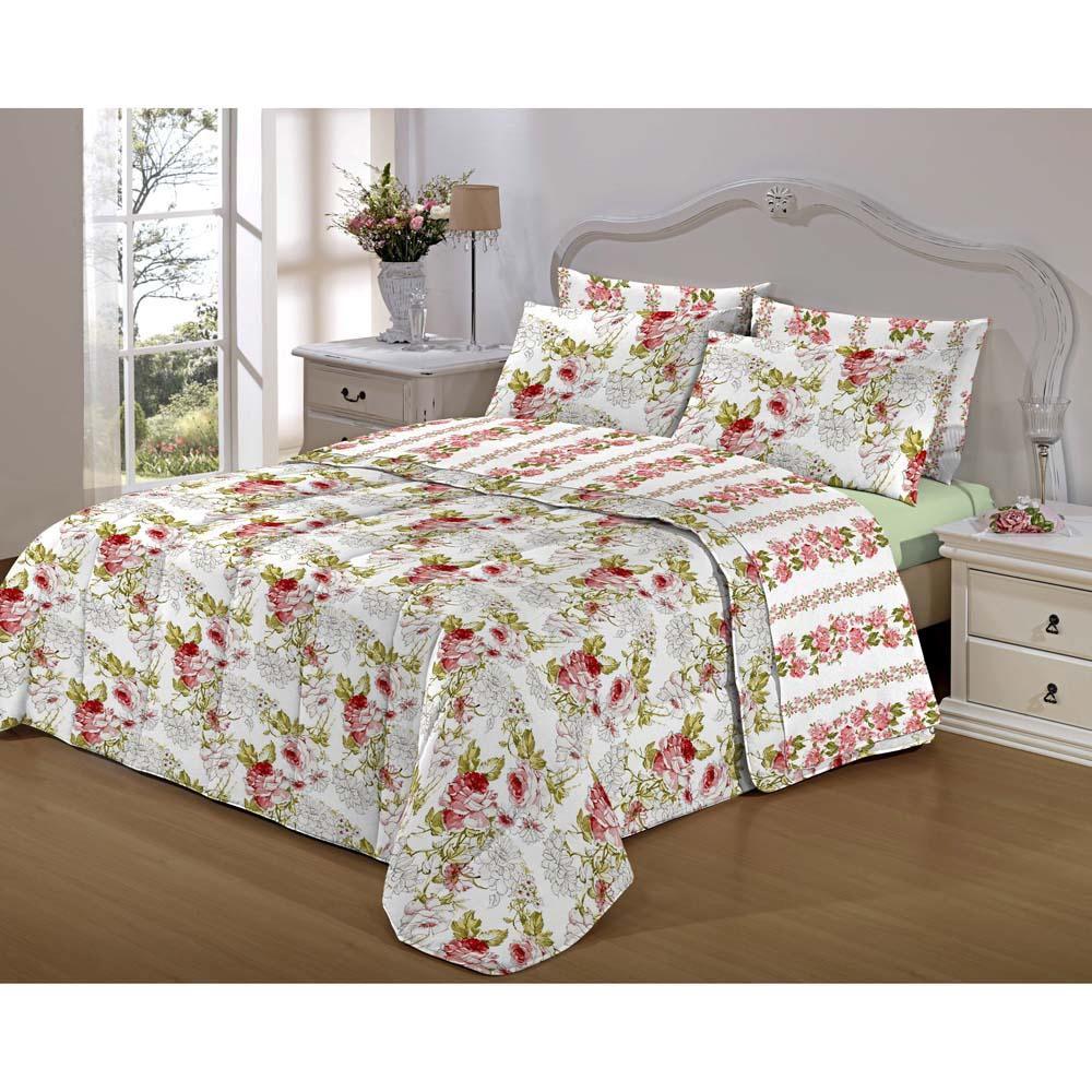 Jogo de cama Casal - Florido