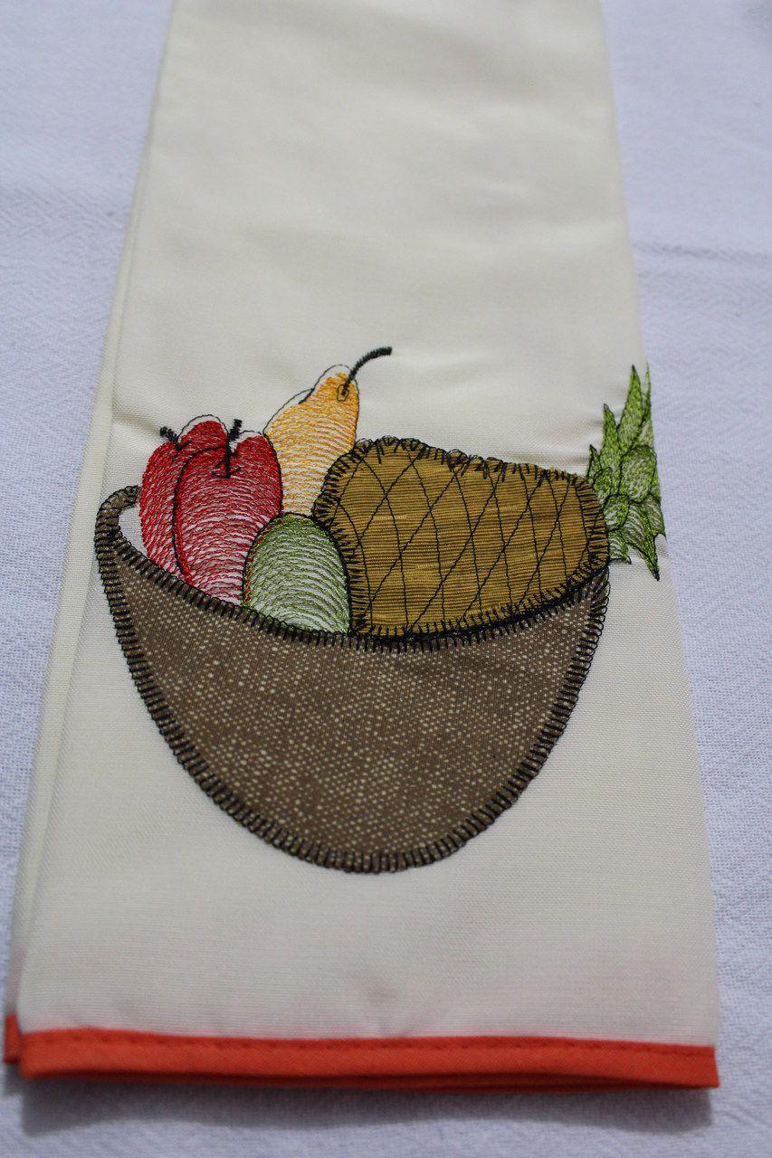 Jogo de Cozinha 10 Peças - Cesta de Frutas