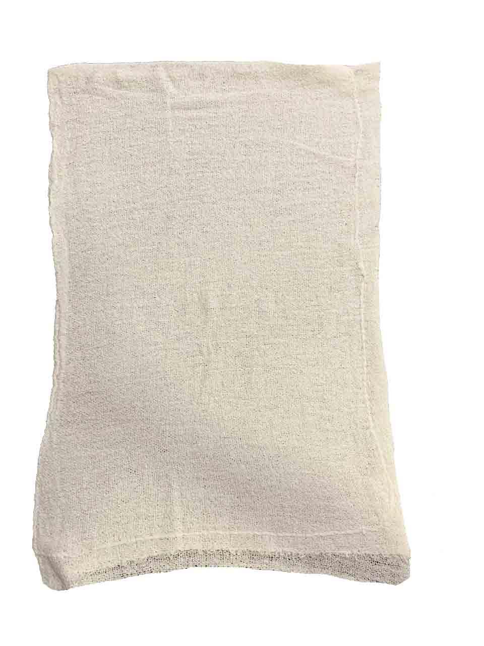 Pano de Chão Alvejado Branco Fábrica 10 - Kit com 100 Peças ESPECIAL ATACADO