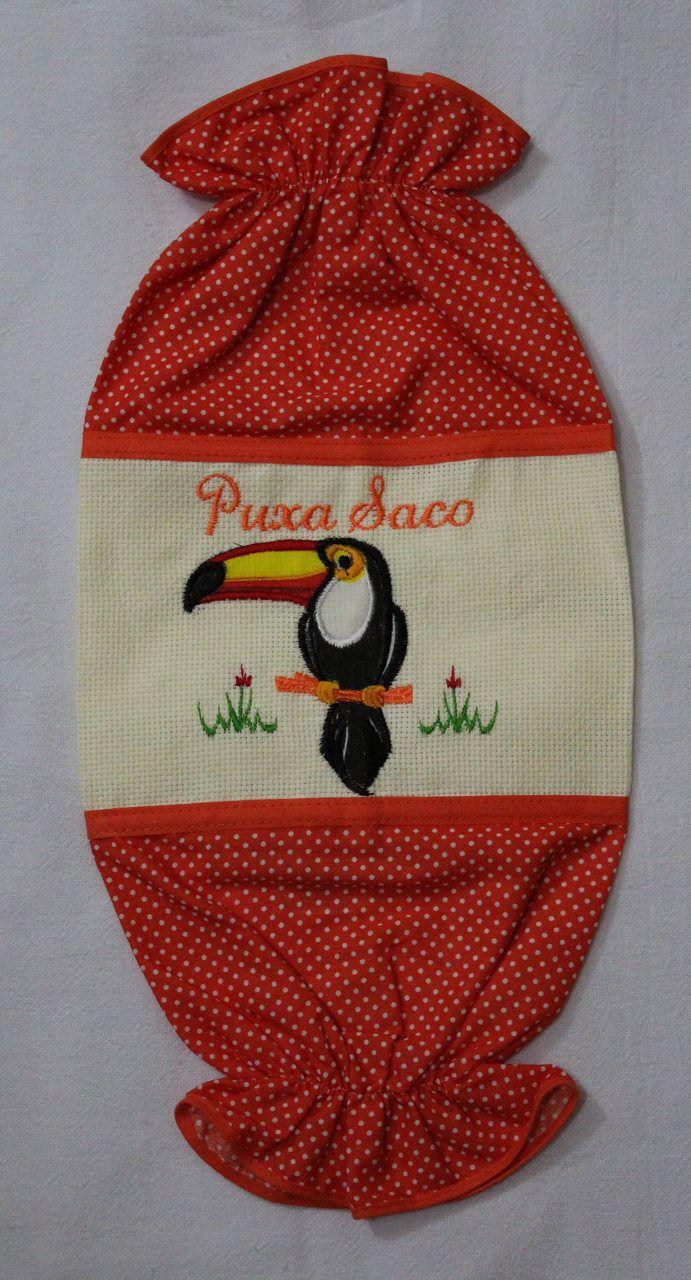Puxa Saco Bordado Laranja Tucano