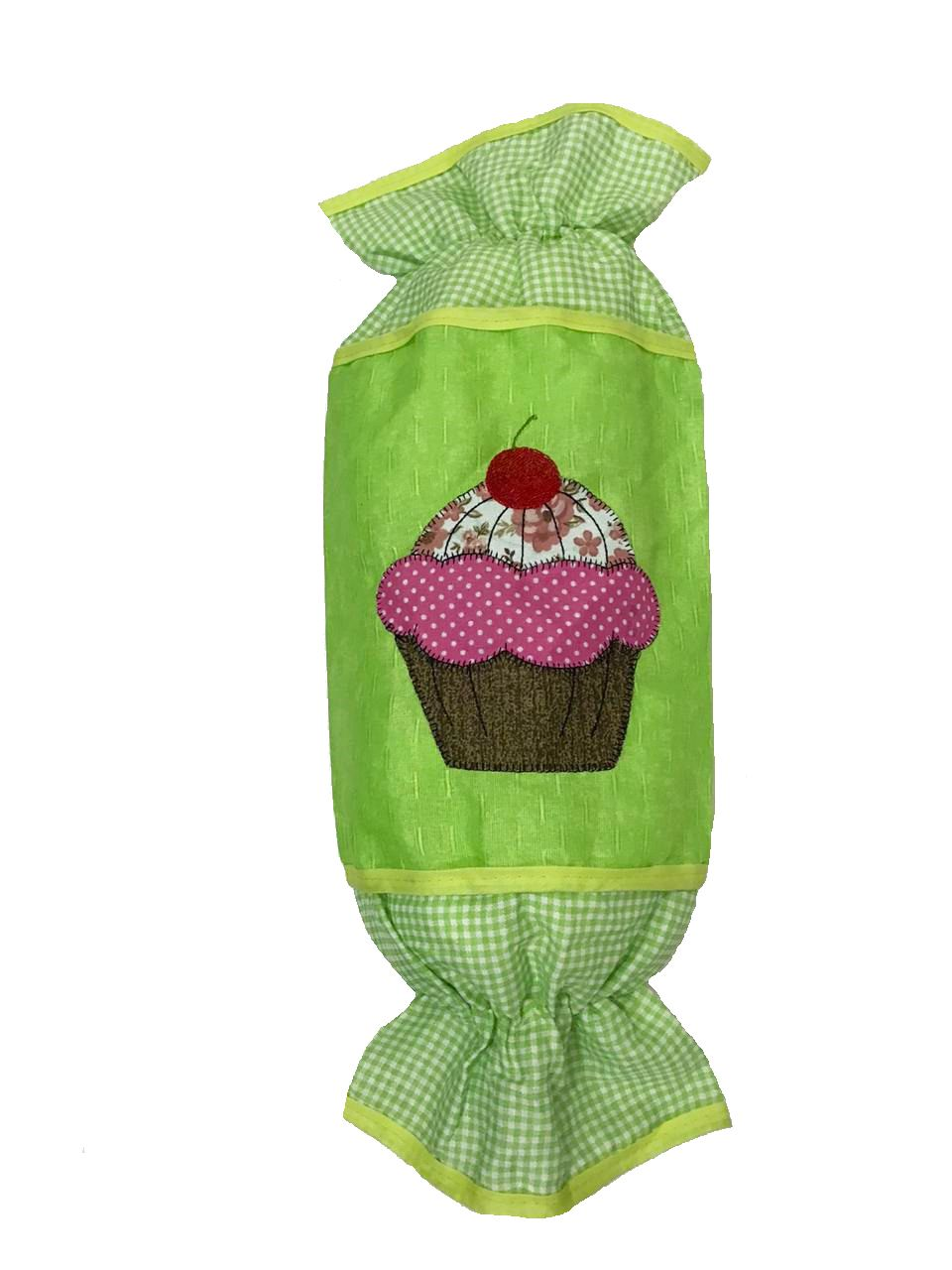 Puxa Saco Patchwork - Cupcake