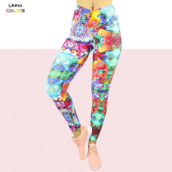 Calça Legging de Poliamida colors