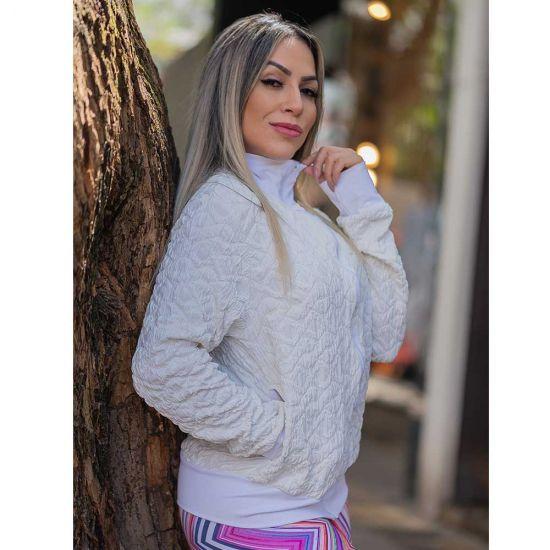 Jaqueta White Jacquard