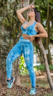 Legging Estampada Ligth Blue
