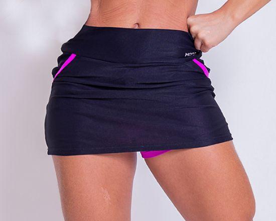 Shorts Saia Black Fit Pink