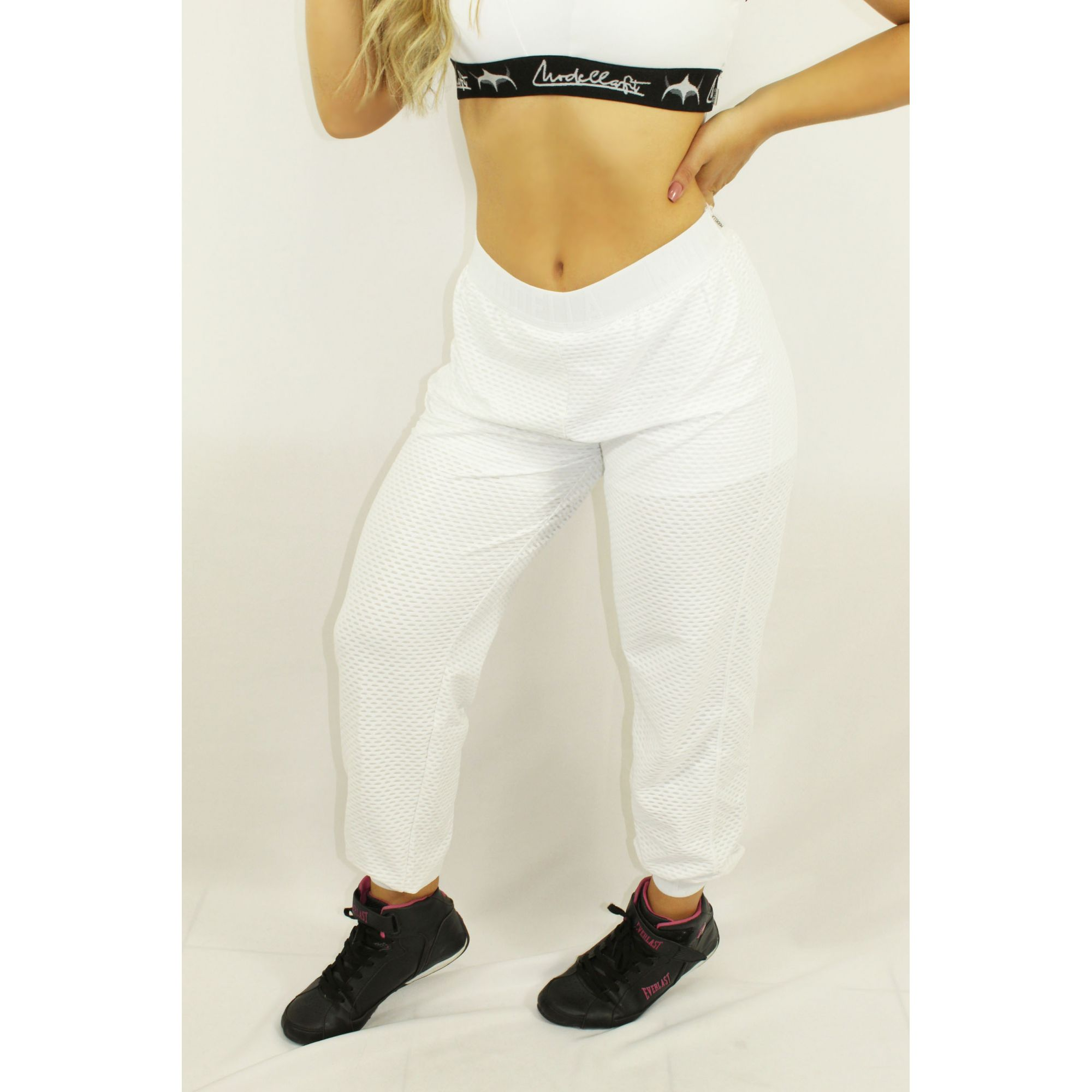 calça jogging white