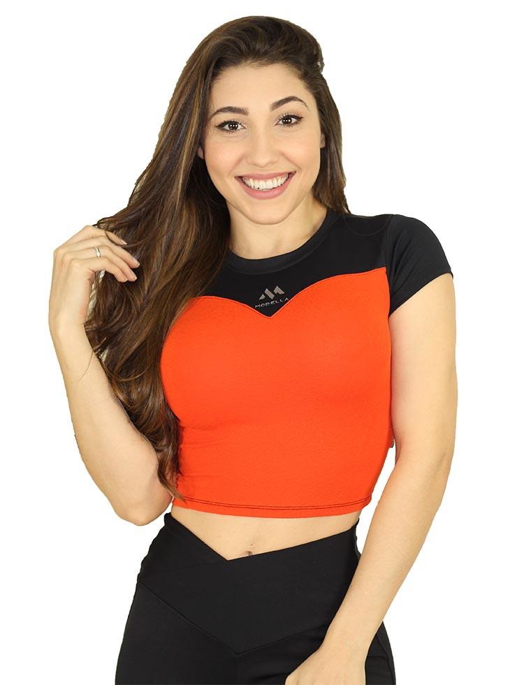 Cropped Orange With Black