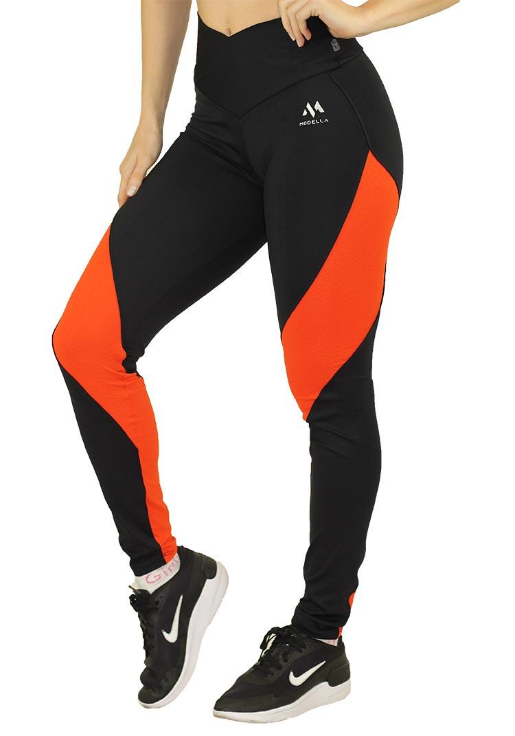 Legging Orange With Black
