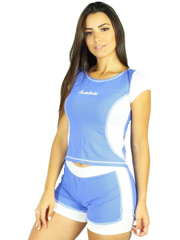 Shorts Colmeia Blue
