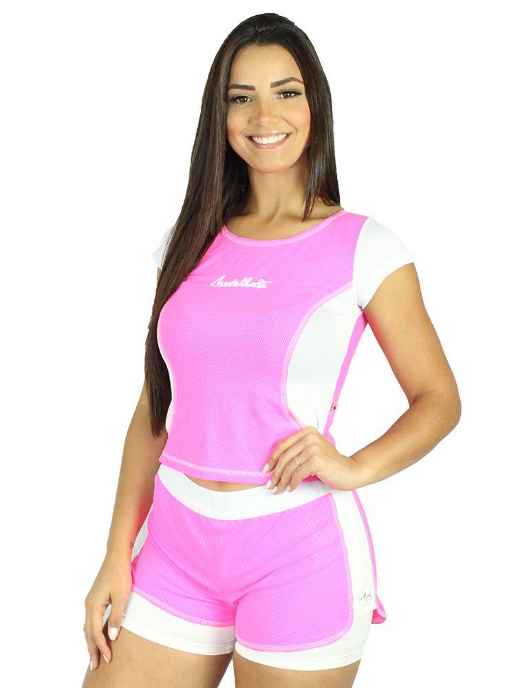 Shorts Colmeia Pink