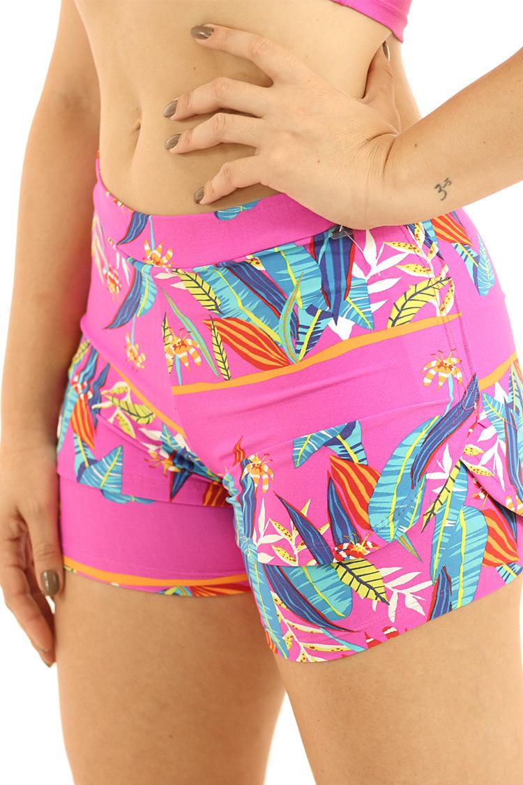 Shorts Sobreposto Estampado