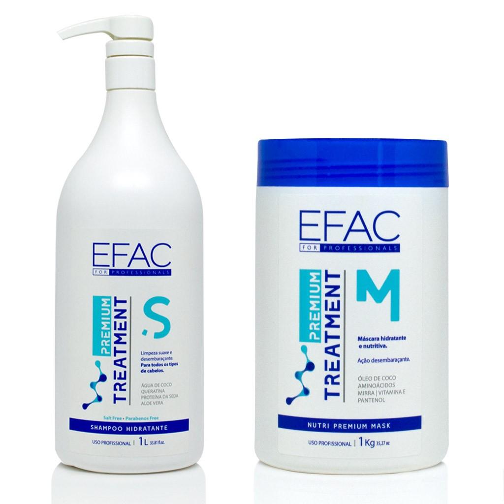 Kit Shampoo + Máscara EFAC Premium Treatment