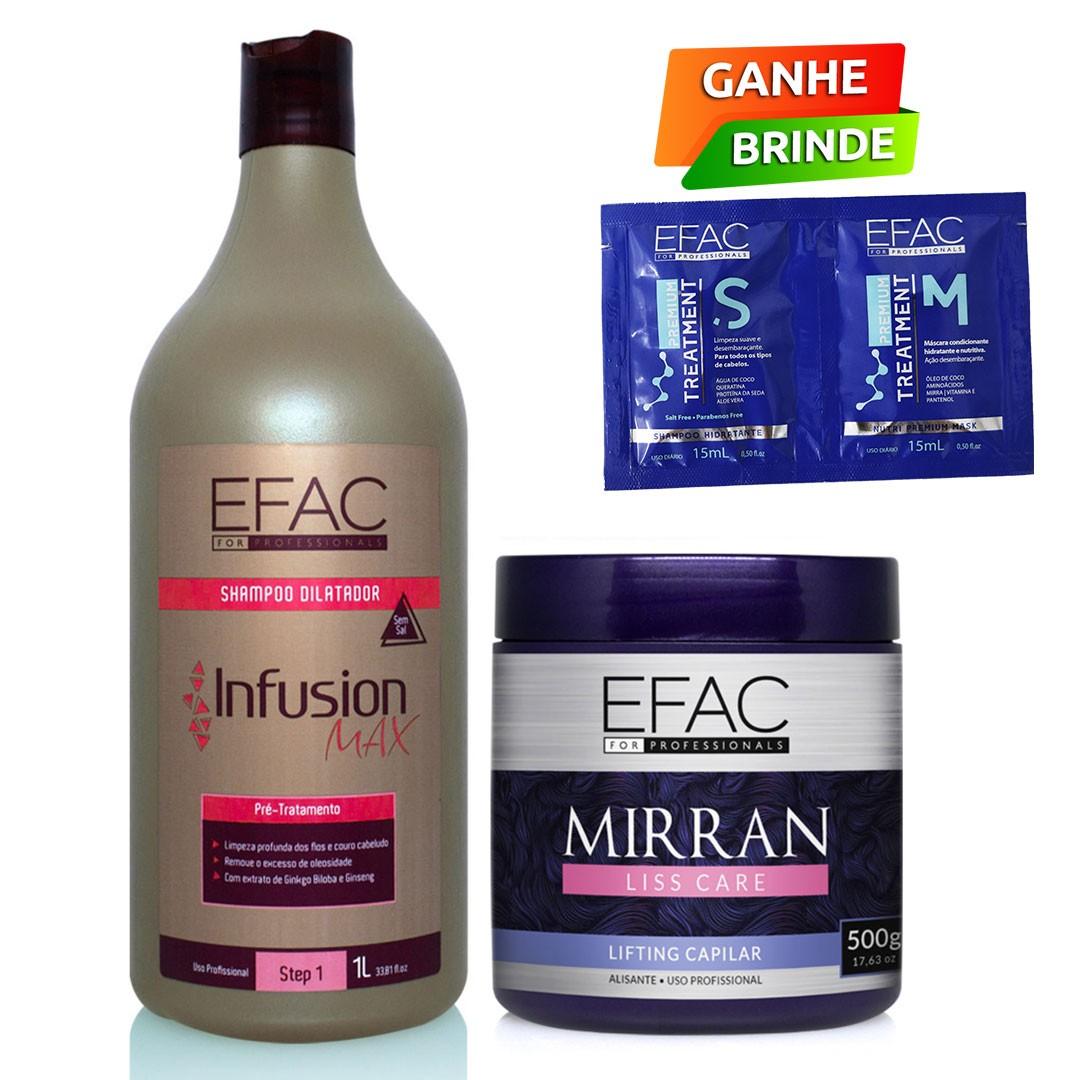 Kit Blindagem Capilar com Shampoo Antirresíduos e Btox Efac