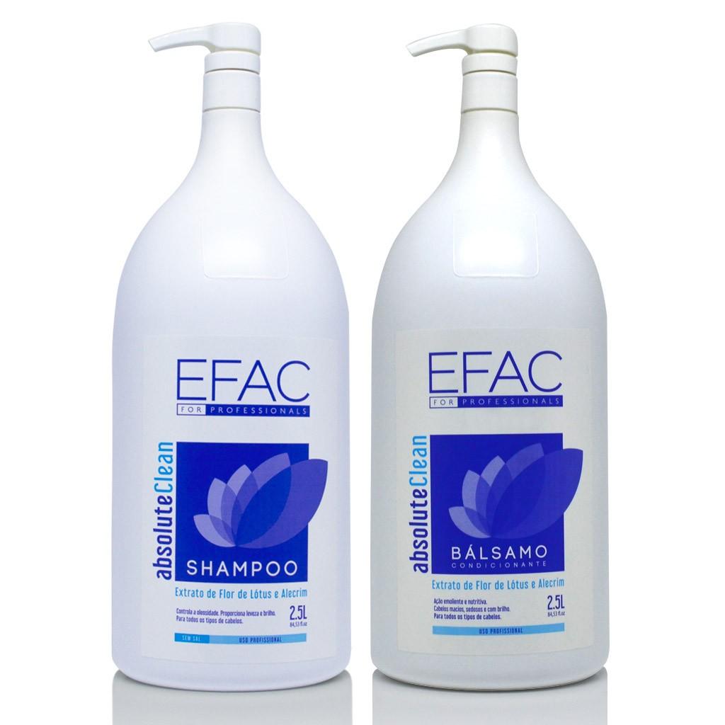 Kit Shampoo 2,5l + Bálsamo condicionante 2,5l Absolute Clean