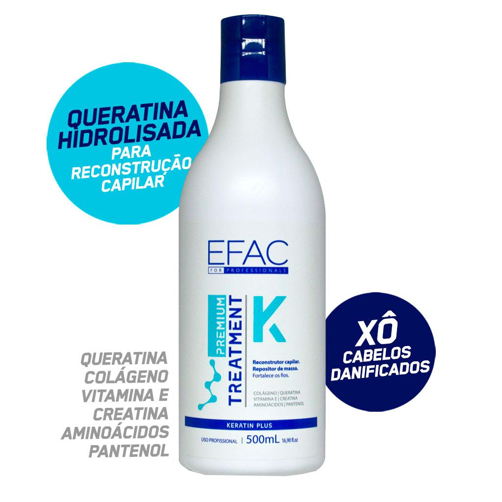 Queratina Hidrolisada Para Reconstrução Capilar - EFAC Premium Treatment - 500mL