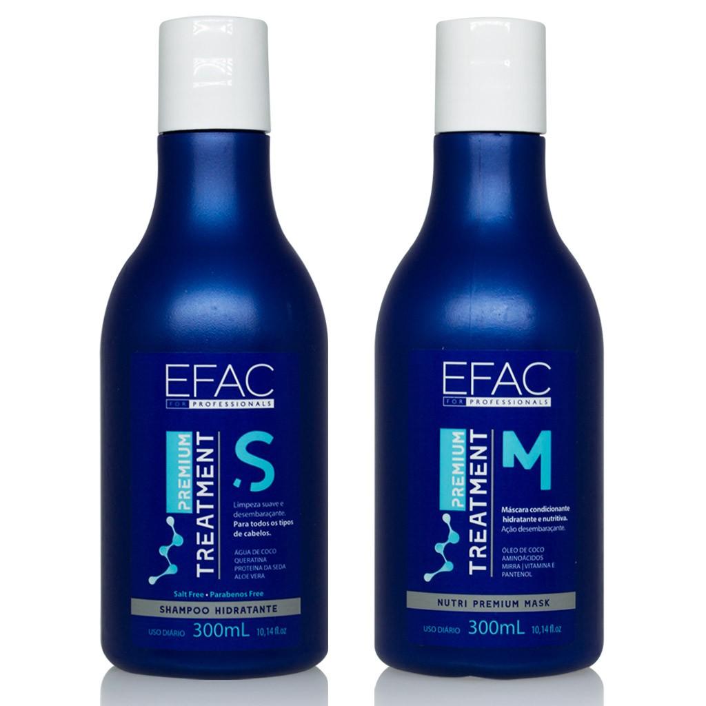 Kit Premium Treatment - 300ml Cada (Shampoo e Máscara Hidratante)