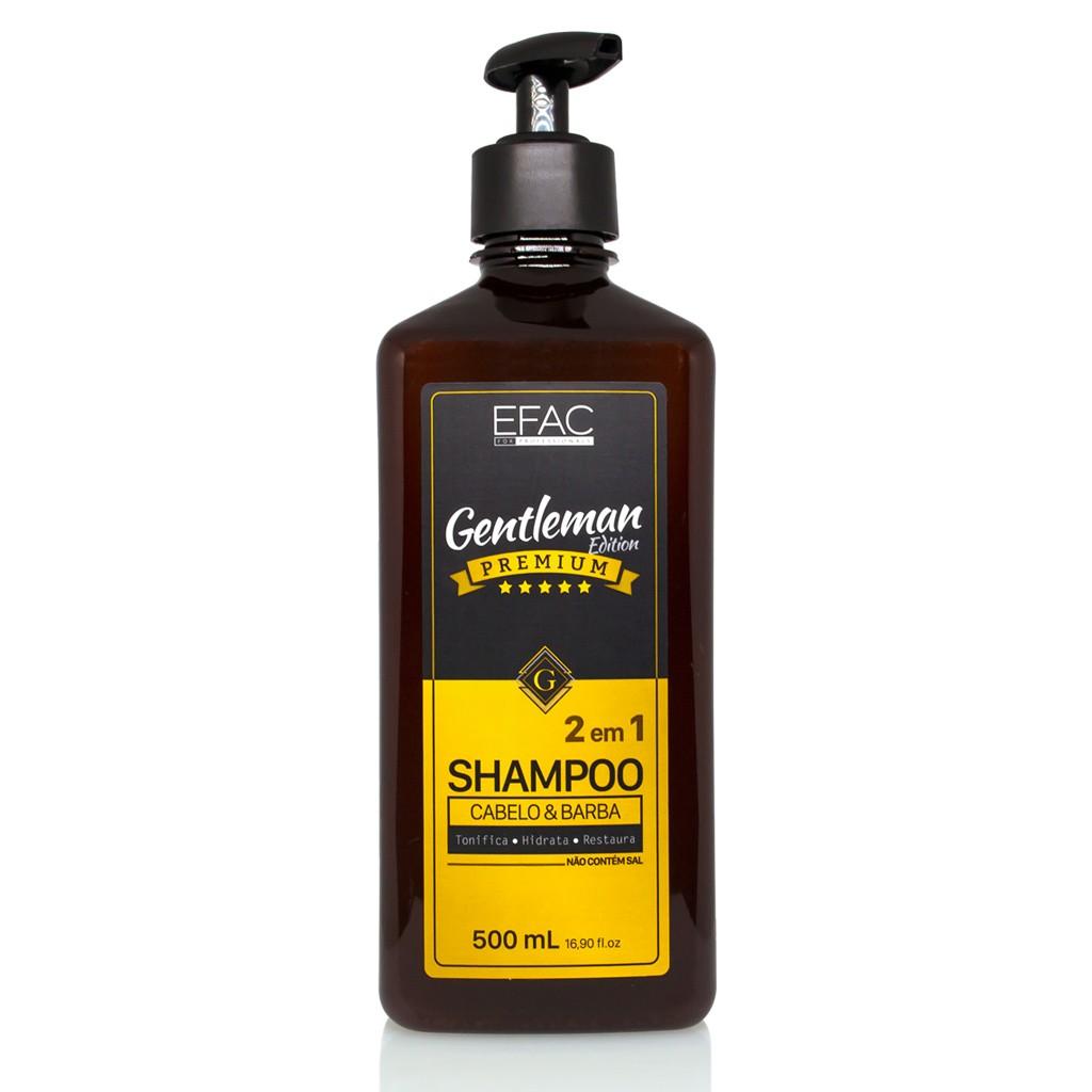 Shampoo 2 em 1 Gentleman Edition - Para Cabelo e Barba 500ml