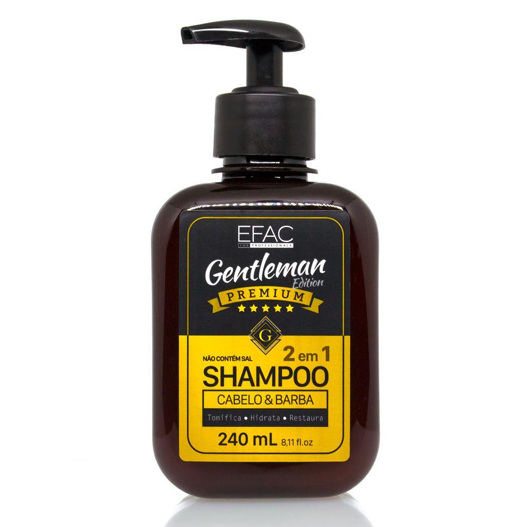 Shampoo para Cabelo e Barba 2 em 1 Gentleman Edition Premium 240ml