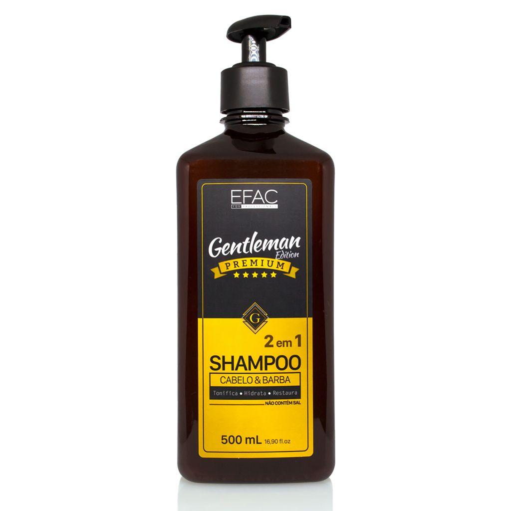 96b288149 EFAC for Professionals Shampoo para Cabelo e Barba 2 em 1 Gentleman Edition  Premium 500ml