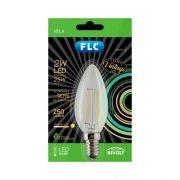 Lampada Vela Lisa de Filamento Led 2W